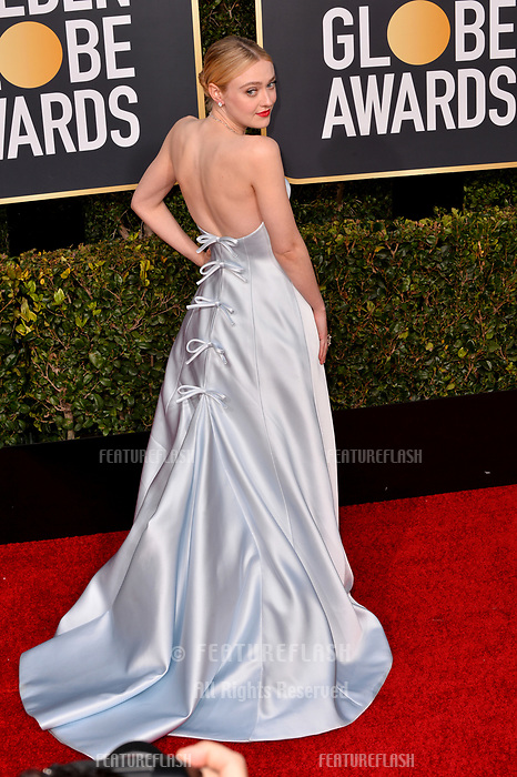 LOS ANGELES, CA. January 06, 2019: Dakota Fanning at the 2019 Golden Globe Awards at the Beverly Hilton Hotel.<br /> Picture: Paul Smith/Featureflash