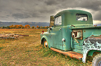 Turquoise Dodge in Taos, New Mexico. © 2012 Cheyenne L Rouse/All rights reserved