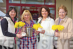 Carmel O'Connell, Elanor Daly, Lillian Cronin and Mary Hannafin who held a coffee morning in aid of the Irish Cancer Society in Garvey's Super Valu Castleisland on Daffodil day last Friday