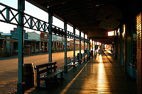 The main street (Allen Street) at sunrise in historic Tombstone, Arizona; site of the OK Coral gunfight.