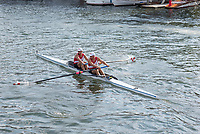 """Henley on Thames, United Kingdom, 6th July 2018, Friday, View, """"Heat of the Silver Goblets and Nickals' Trophy, """"SINKOVIC brothers,  Martin and Valent"""", """"Third day"""", of the annual,  """"Henley Royal Regatta"""", Henley Reach, River Thames, Thames Valley, England, © Peter SPURRIER,"""