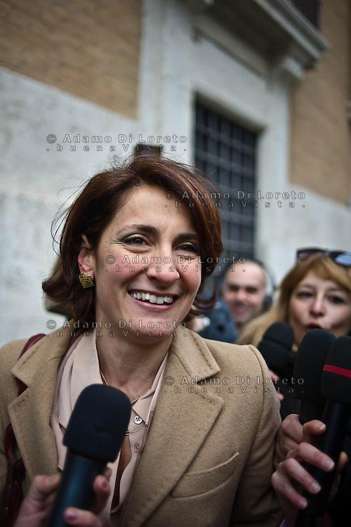 ROMA 15/03/2012: Inizia la XVII Legislatura della Repubblica Italiana. L'ingresso degli Onorevoli a Montecitorio. Nella foto  Carla Ruocco M5S FOTO DI LORETO ADAMO