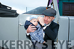 At the Kingdom Veteran Vintage & Classic Car Club's annual Ballymac Vintage Car and Honda 50 Run in aid of Down Syndrome Kerry at O'Riada's Bar were Liam Glover from milltown wearing his Healy Rae Cap and TD Michael Healy-Rae