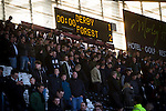 Derby County 1 Nottingham Forest 2, 17/01/2015. iPro Stadium, Championship. The scoreboard gives the final result at the conclusion of Derby Country's Championship match against Nottingham Forest at the iPro Stadium, Derby. The match was won by the visitors by 2 goals to 1, watched by a derby-day crowd of 32,705. The stadium, opened in 1997, was formerly known as Pride Park. Photo by Colin McPherson.
