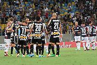 RIO DE JANEIRO, RJ, 11.02.2014 - Jogadores do Botafogo comemoram a vitória contra o San Lorenzo pela primeira rodada do Grupo 2 da Libertadores no Estádio Mário Filho, o Maracanã . (Foto. Néstor J. Beremblum / Brazil Photo Press)