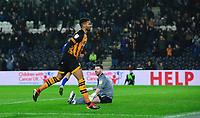 Hull City's Fraizer Campbell celebrates scoring his side's third goal <br /> <br /> Photographer Chris Vaughan/CameraSport<br /> <br /> The EFL Sky Bet Championship - Hull City v Sheffield Wednesday - Saturday 12th January 2019 - KCOM Stadium - Hull<br /> <br /> World Copyright &copy; 2019 CameraSport. All rights reserved. 43 Linden Ave. Countesthorpe. Leicester. England. LE8 5PG - Tel: +44 (0) 116 277 4147 - admin@camerasport.com - www.camerasport.com