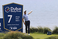 Ross Fisher (ENG) tees off the 7th tee during Thursday's Round 1 of the Dubai Duty Free Irish Open 2019, held at Lahinch Golf Club, Lahinch, Ireland. 4th July 2019.<br /> Picture: Eoin Clarke | Golffile<br /> <br /> <br /> All photos usage must carry mandatory copyright credit (© Golffile | Eoin Clarke)