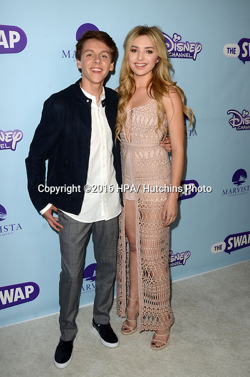 "LOS ANGELES - OCT 5:  Jacob Bertrand, Peyton List at the ""The Swap"" Premiere Screening at the ArcLight Hollywood Theater on October 5, 2016 in Los Angeles, CA"