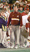 Washington Redskin head coach Norv Turner on the sideline at FedEx Field in Landover, Maryland during game against the New York Giants on November 21, 1999. The Redskins won the game 23 - 13.<br /> Credit: Arnie Sachs / CNP
