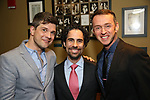 Stephen Oremus, Alex Lacamoire and Andrew Lippa attends the After Party for the Dramatists Guild Foundation toast to Stephen Schwartz with a 70th Birthday Celebration Concert at The Hudson Theatre on April 23, 2018 in New York City.