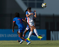 Bradenton, FL - Sunday, June 10, 2018: Samantha Kroeger during a U-17 Women's Championship match between the United States and Haiti at IMG Academy.  USA defeated Haiti 3-2 to advance to the finals.