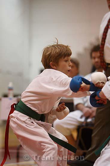 Nathaniel Nelson in Utah Open Karate Tournament<br />