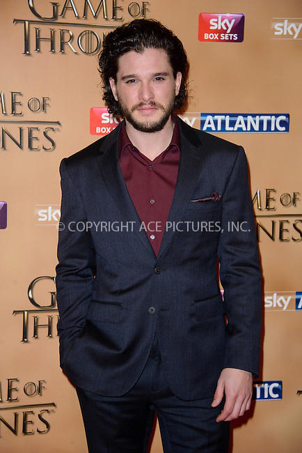 WWW.ACEPIXS.COM<br /> <br /> March 18 2015, London<br /> <br /> Kit Harrington arriving at the world premiere of Game of Thrones Season 5 at the Tower of London on March 18 2015 in London.<br /> <br /> By Line: Famous/ACE Pictures<br /> <br /> <br /> ACE Pictures, Inc.<br /> tel: 646 769 0430<br /> Email: info@acepixs.com<br /> www.acepixs.com