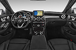 Stock photo of straight dashboard view of a 2018 Mercedes Benz C-Class C300 Sport 4 Door Sedan Dashboard