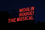 "Theatre Marquee during the Broadway Opening Night performance  for ""Moulin Rouge! The Musical"" at the Al Hirschfeld Theatre on July 25, 2019 in New York City."