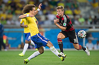 Belo Horizonte, Brazil - Tuesday, July 8, 2014: Germany defeats Brazil 7-1 to advance out of the Semi Final round to reach the 2014 World Cup Finals at Estádio Mineirão.