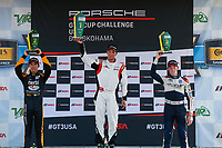 Race 2, Platinum Podium, #19 Moorespeed, Porsche 991 / 2017, GT3P: Zacharie Robichon, #3 JDX Racing, Porsche 991 / 2018, GT3P: Trenton Estep, #1 Kelly-Moss Road and Race, Porsche 991 / 2017, GT3P: Roman De Angelis