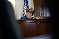 United States Senator Susan Collins (Republican of Maine) listens during a United States Senate Aging Committee hearing at the United States Capitol in Washington D.C., U.S. on Thursday, May 21, 2020.  Credit: Stefani Reynolds / CNP /MediaPunch