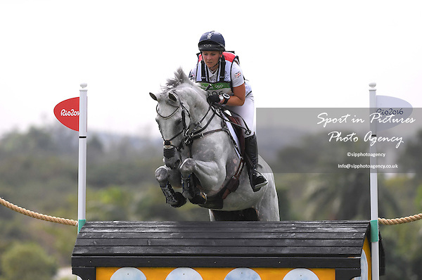 Fence 8b. Gemma Tattersall (GBR) riding QUICKLOOK V. Equestrian Eventing Cross Country (XC). Olympic Equestrian Centre. Deodoro. Rio de Janeiro. Brazil. 08/08/2016. ~ MANDATORY CREDIT Garry Bowden/SIPPA - NO UNAUTHORISED USE - +44 7837 394578