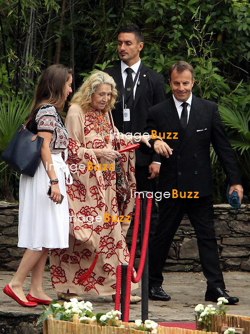 Arrival of the guests of the marriage of Pierre and B&eacute;atrice<br /> <br /> Marta Marzotto