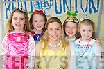 Gneeveguilla NS new pricipal Geraldine Shanahan with pupils l-r: Tara O'Leary, Caoimhe Guerin, Emma McGillicuddy and Katie Shields who all attended school in fancy dress on Friday to celebrate World Book day ..