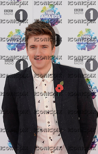 Greg James - BBC RADIO1 DJ and TV presenter - photocall on the red carpet at the BBC Radio1 Teen Awards held at Wembley Arena in London UK - 03 Nov 2013.  Photo credit: George Chin/IconicPix