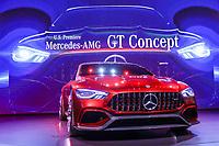 NEW YORK, EUA, 12.04.2017 - AUTOMÓVEL-NEW YORK - Mercedes GT Concept  é visto durante o New York Internacional Auto Show no Javits Center na cidade de New York nesta quarta-feira, 12. O evento é aberto ao público do dia 14 à 23 de abril de 2017  . (Foto: Vanessa Carvalho/Brazil Photo Press/Folhapress)