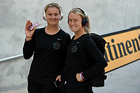 Orlando, FL - Saturday October 14, 2017: Lindsey Horan, Emily Sonnett during the NWSL Championship match between the North Carolina Courage and the Portland Thorns FC at Orlando City Stadium.