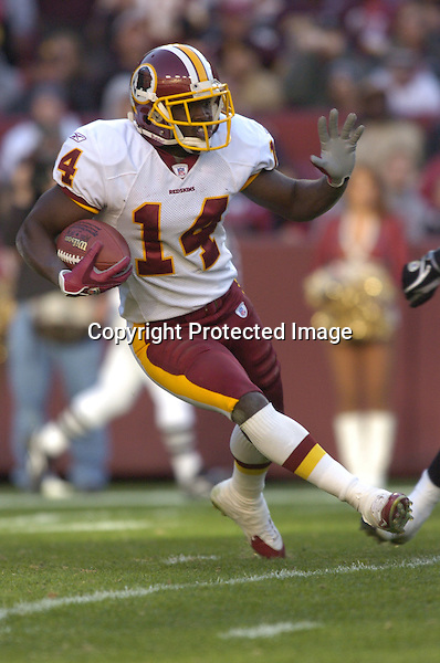 20 November 2005:  Rich Parson (14)..The Oakland Raiders defeated the Washington Redskins 16-13  at FedEx Field in Landover, MD.