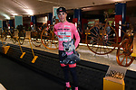"""Race leader Valerio Conti (ITA) UAE Team Emirates visits the """"Museo dei Campionissimi"""" in Novi Ligure at the end of Stage 11 of the 2019 Giro d'Italia, running 221km from Carpi to Novi Ligure, Italy. 22nd May 2019<br /> Picture: Massimo Paolone/LaPresse 
