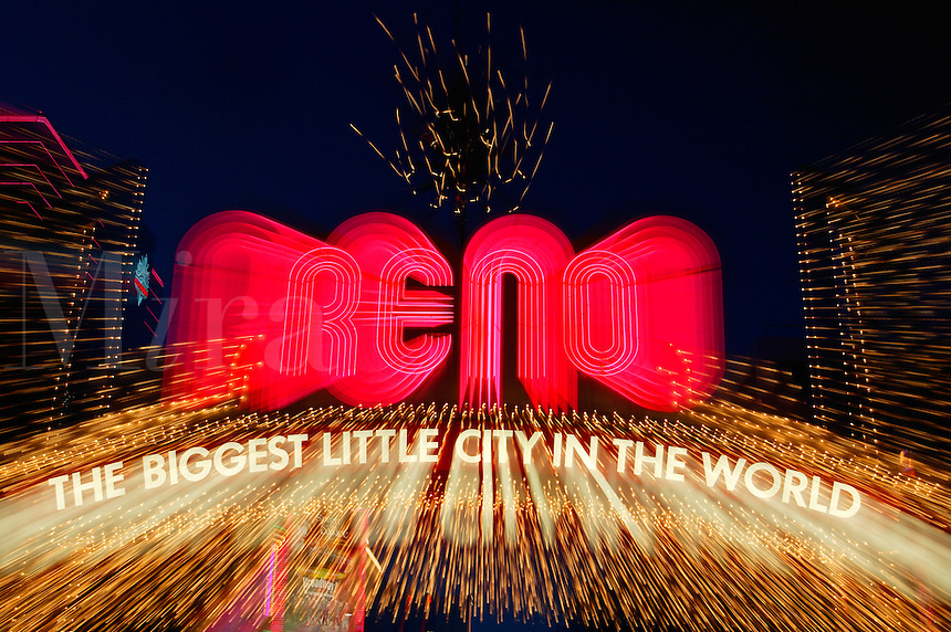 "The famous ""BIGGEST LITTLE CITY IN THE WORLD"" sign to Reno, Nevada."