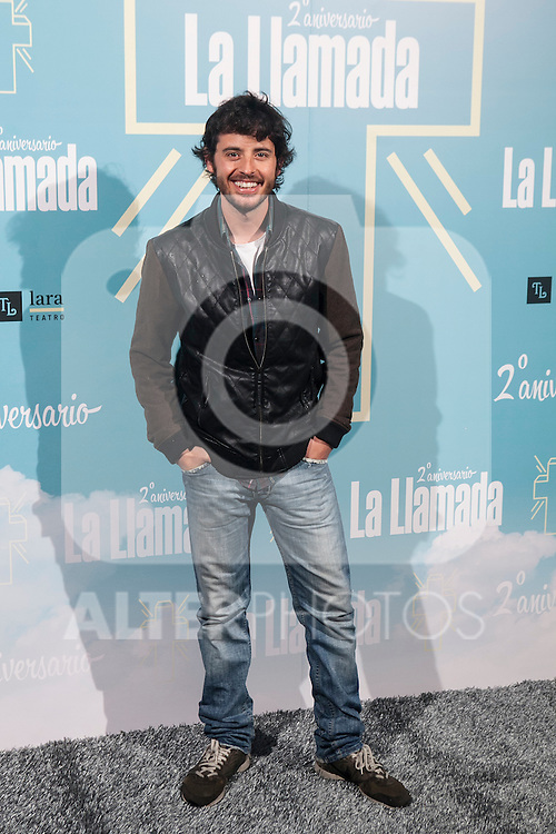 attends La Llamada theater play in Madrid, Spain. April 15, 2015. (ALTERPHOTOS/Victor Blanco)