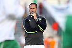 20 September 2014: Cosmos' head coach Giovanni Savarese (VEN). The Carolina RailHawks played the New York Cosmos at WakeMed Stadium in Cary, North Carolina in a 2014 North American Soccer League Fall Season match. Carolina won the game 5-4.