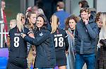 AMSTELVEEN - coach Tina Bachmann (OR) na de hoofdklasse hockeywedstrijd dames,  Amsterdam-Oranje Rood (2-2) .   COPYRIGHT KOEN SUYK