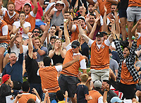 A fan takes a one handed catch in the crowd and wins $50,000.<br /> New Zealand Black Caps v England.Tri-Series International Twenty20 cricket. Eden Park, Auckland, New Zealand. Sunday 18 February 2018. &copy; Copyright Photo: Andrew Cornaga / www.Photosport.nz
