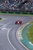 24th March 2018, Melbourne Grand Prix Circuit, Melbourne, Australia; Melbourne Formula One Grand Prix, qualifying; The number 7 Scuderia Ferrari driven by Kimi Raikkanen