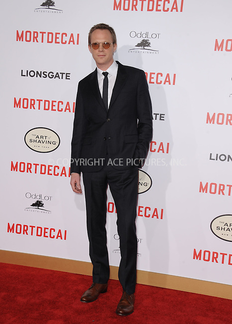 WWW.ACEPIXS.COM<br /> <br /> January 21 2015, LA<br /> <br /> Paul Bettany arriving at the premiere of Lionsgate's 'Mortdecai' at the TCL Chinese Theatre on January 21, 2015 in Hollywood, California.<br /> <br /> By Line: Peter West/ACE Pictures<br /> <br /> ACE Pictures, Inc.<br /> tel: 646 769 0430<br /> Email: info@acepixs.com<br /> www.acepixs.com