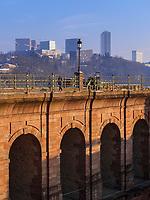 Schlossbr&uuml;cke, Europazentrum, Luxemburg-City, Luxemburg, Europa, UNESCO-Weltkulturerbe<br /> Castle bridge, European centre, Luxembourg City, Europe, UNESCO Heritage Site