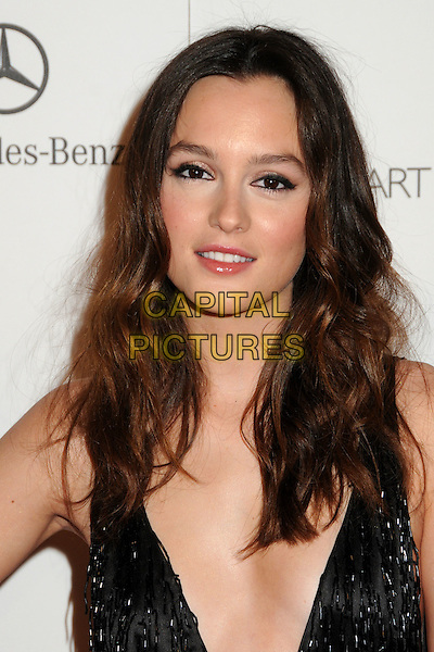 "LEIGHTON MEESTER .attends the Art of Elysium 4th Annual Charity Gala ""Heaven"" held at The Annenberg Building at The California Science Center in Los Angeles, California, USA, January 15th 2011..portrait headshot black low cut beaded wavy hair beauty make-up smiling .CAP/ADM/BP.©Byron Purvis/AdMedia/Capital Pictures."