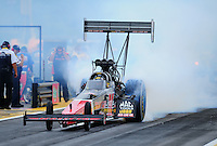 Aug. 5, 2011; Kent, WA, USA; NHRA top fuel dragster driver David Grubnic during qualifying for the Northwest Nationals at Pacific Raceways. Mandatory Credit: Mark J. Rebilas-