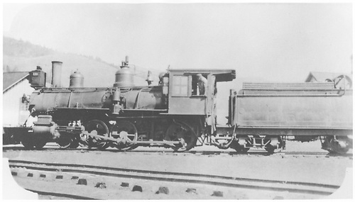 Fireman's-side view of engine #173 at Sargent.<br /> D&amp;RGW  Sargent, CO