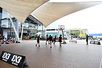 3 on 3 Game, FIBA World Cup Basketball Qualifier - NZ Tall Blacks v Syria at TSB Bank Arena, Wellington, New Zealand on Sunday 2 2018. <br /> Photo by Masanori Udagawa. <br /> www.photowellington.photoshelter.com