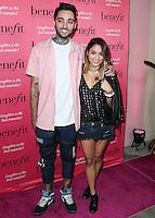 HOLLYWOOD, LOS ANGELES, CA, USA - SEPTEMBER 26: Romeo Lacoste, Vanessa Hudgens arrive at the Benefit Cosmetics: Wing Woman Weekend Kick-Off Party held at the Benefit Tattoo Parlor on September 26, 2014 in Hollywood, Los Angeles, California, United States. (Photo by Xavier Collin/Celebrity Monitor)