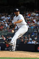 New York Yankees pitcher Mariano Rivera #42 during a game against the Baltimore Orioles at Yankee Stadium on September 5, 2011 in Bronx, NY.  Yankees defeated Orioles 11-10.  Tomasso DeRosa/Four Seam Images