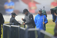 Eddie Pepperell (ENG) signs an autograph on route to the 1st tee during Round 4 of the Sky Sports British Masters at Walton Heath Golf Club in Tadworth, Surrey, England on Sunday 14th Oct 2018.<br /> Picture:  Thos Caffrey | Golffile<br /> <br /> All photo usage must carry mandatory copyright credit (&copy; Golffile | Thos Caffrey)