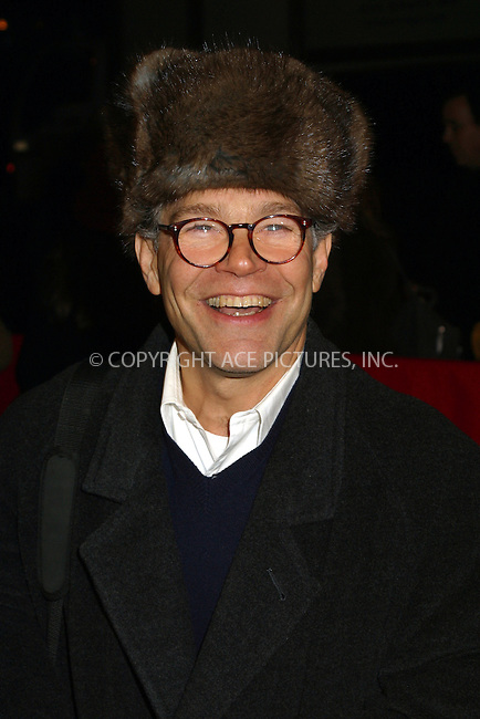 "Al Franken arriving at the World Premiere of ""Analyze That"" in New York. December 12, 2002. Please byline: Alecsey Boldeskul/NY Photo Press.   ..*PAY-PER-USE*      ....NY Photo Press:  ..phone (646) 267-6913;   ..e-mail: info@nyphotopress.com"