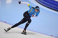 SCHAATSEN: HEERENVEEN: Thialf, 4th Masters International Speed Skating Sprint Games, 25-02-2012, Vladimir Kostin (M35) 1st, ©foto: Martin de Jong