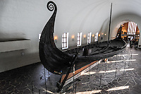 Norway, Oslo, Bygdøy. The Oseberg Ship at the Viking ship museum.