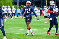 June 7, 2017: New England Patriots cornerback Kenny Moore (42) takes part in the New England Patriots mini camp held on the practice field at Gillette Stadium, in Foxborough, Massachusetts. Eric Canha/CSM