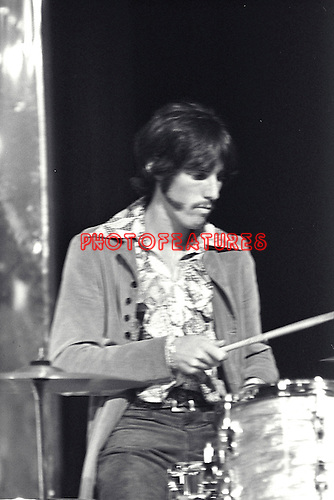 The Doors 1968 John Densmore on Top Of The Pops..© Chris Walter..